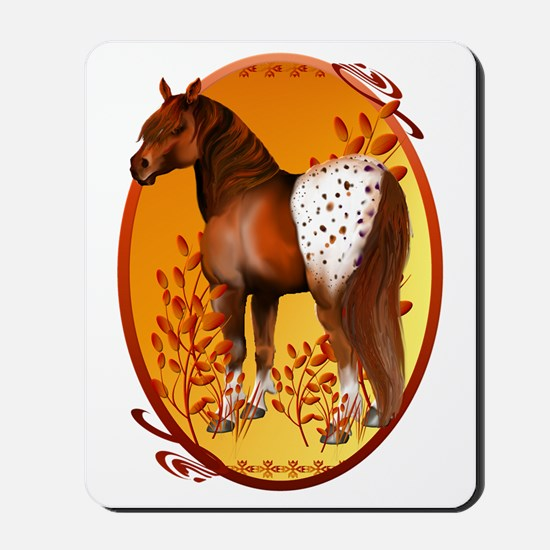 Big Copper Appaloosa Oval Trans Mousepad