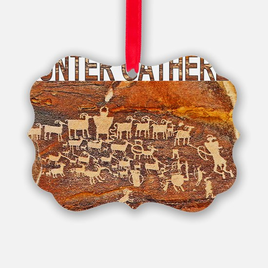 Hunter Gatherer Primitive Rock Ar Ornament