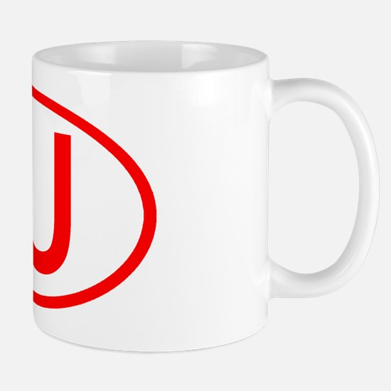 IU Oval (Red) Mug