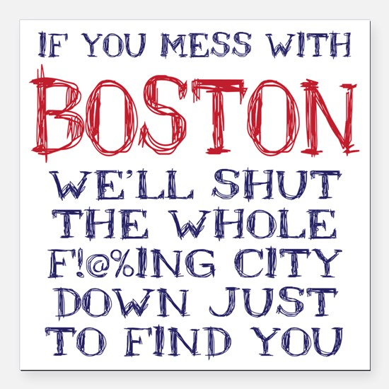 """Dont Mess with Boston Square Car Magnet 3"""" x 3"""""""
