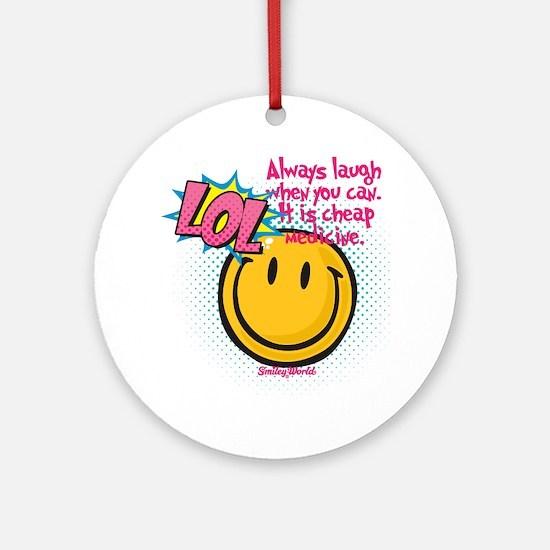 lol smiley Round Ornament