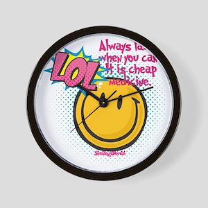 lol smiley Wall Clock