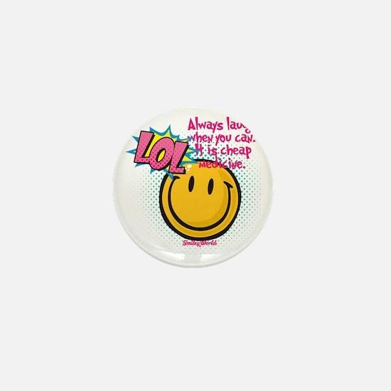 lol smiley Mini Button
