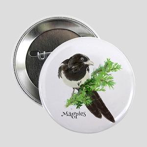 Curious Watercolor Magpie Bird Nature Art 2.25&Quo