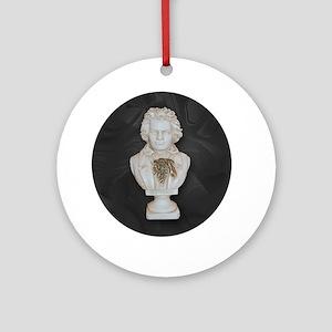 BeethovenonBlackCircle Round Ornament