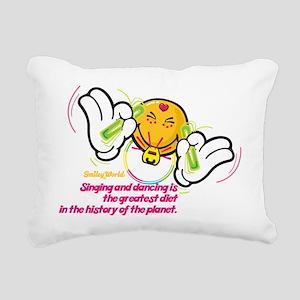 raving smiley Rectangular Canvas Pillow