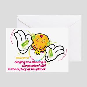 raving smiley Greeting Card