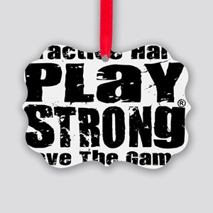 Play Strong Workout Picture Ornament