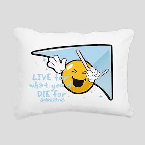 die for tomo smiley Rectangular Canvas Pillow