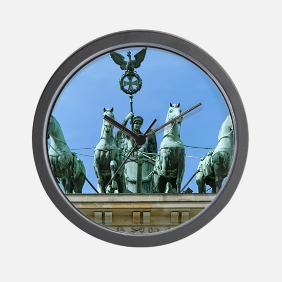 Brandenburg Gate Quadriga Berlin Wall Clock