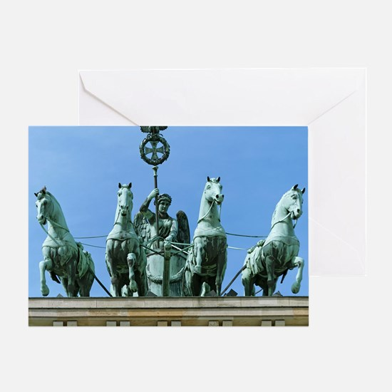 Brandenburg Gate Quadriga Berlin Greeting Card