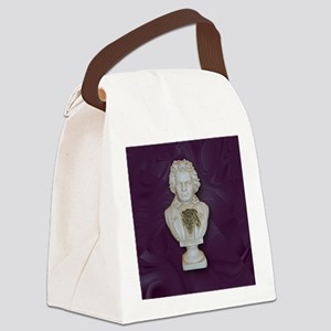 BeethovenonPurple Canvas Lunch Bag