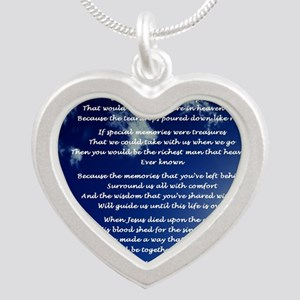 In memory of Silver Heart Necklace