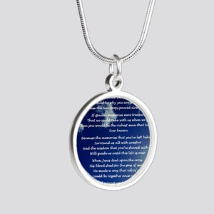 In memory of Silver Round Necklace