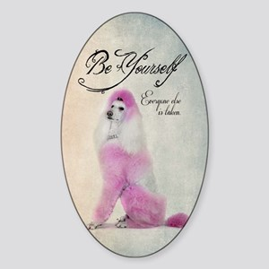 Be Yourself Sticker (Oval)