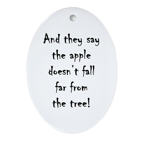 Apple Tree Oval Ornament