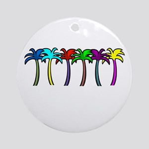 Palm Trees Ornament (Round)