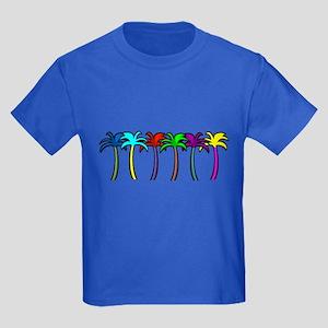 Palm Trees Kids Dark T-Shirt