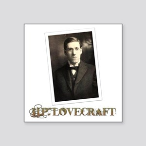 "HP Lovecraft Square Sticker 3"" x 3"""