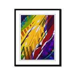 The City II, Rainbow Streams Framed Panel Print