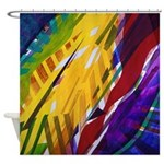 The City II, Rainbow Streams Shower Curtain