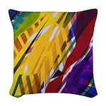 The City II, Rainbow Streams Woven Throw Pillow