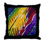 The City II, Rainbow Streams Throw Pillow