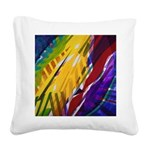 The City II, Rainbow Streams Square Canvas Pillow