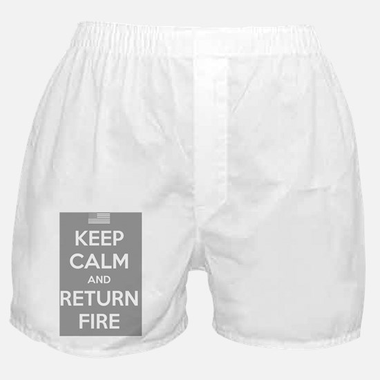 Keep Calm and Return Fire Boxer Shorts