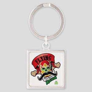 Cheststache Kid Nacho Mustacho T-S Square Keychain