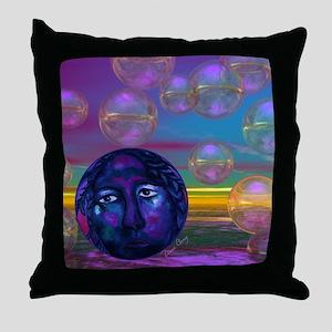 Compassion, Violet Goddess Throw Pillow
