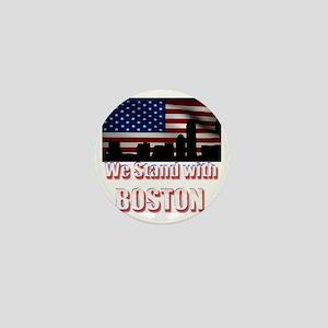 We stand with Boston Mini Button