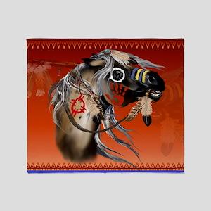 Yardsign War Horse Throw Blanket