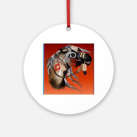 THROW BLANKET War Horseb Round Ornament