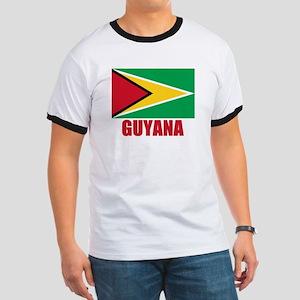 Guyana Flag Ringer T