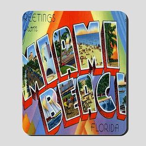Vintage Miami Beach Postcard Mousepad