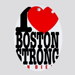 I Heart Boston Strong San Diego Oval Ornament