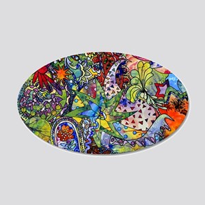 cool Paisley 20x12 Oval Wall Decal