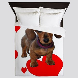 Love Dachshunds Queen Duvet