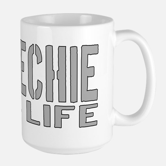 techie 4 life Large Mug