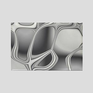 Liquid Silver Rectangle Magnet