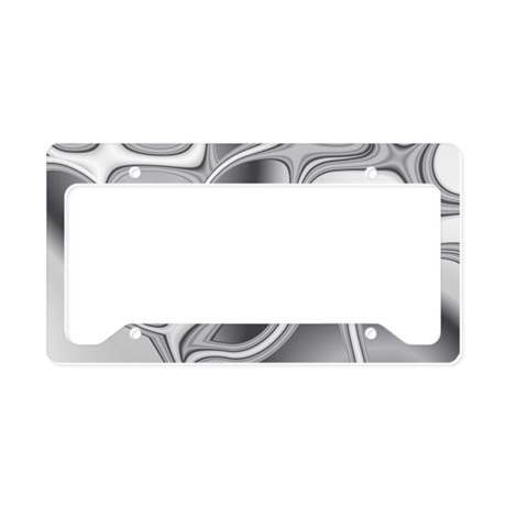 Liquid Silver License Plate Holder