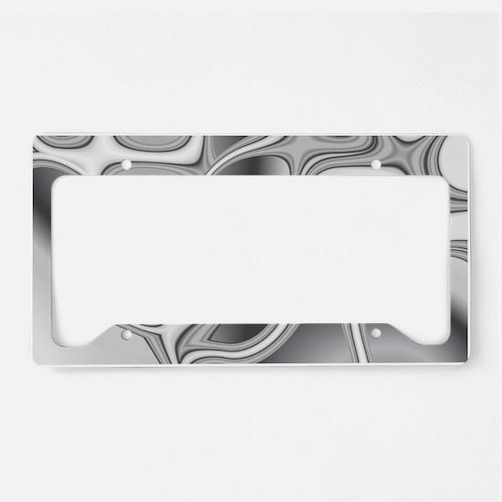 Liquid Silver License Plate Holder