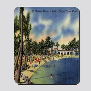 Vintage Coconut Beach Florida Postcard Mousepad