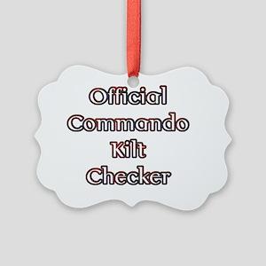 Official Commando Kilt Checker Picture Ornament