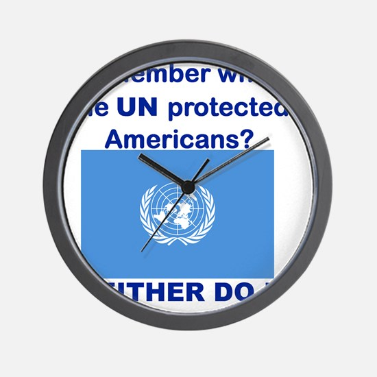 REMEMBER WHEN THE UN PROTECTED AMERICAN Wall Clock