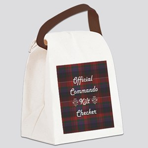 Official Commando Kilt Checker Canvas Lunch Bag