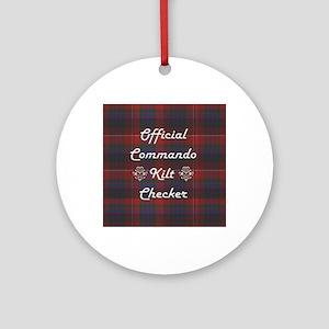 Official Commando Kilt Checker Round Ornament
