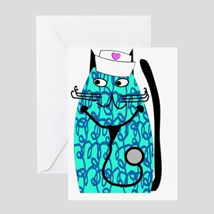 nurse cat 1 Greeting Card