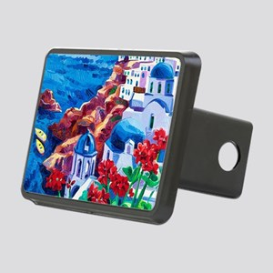 Greek Oil Painting Rectangular Hitch Cover